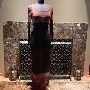 Long sheer dress and matching tank. 2 pieces.